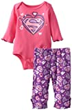 Bentex Group Inc Baby-Girls Newborn Supergirl Creeper Pant Set