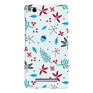 ColourCrust Xiaomi Mi 4i Mobile Phone Back Cover With Floral Pattern - Durable Matte Finish Hard Plastic Slim Case
