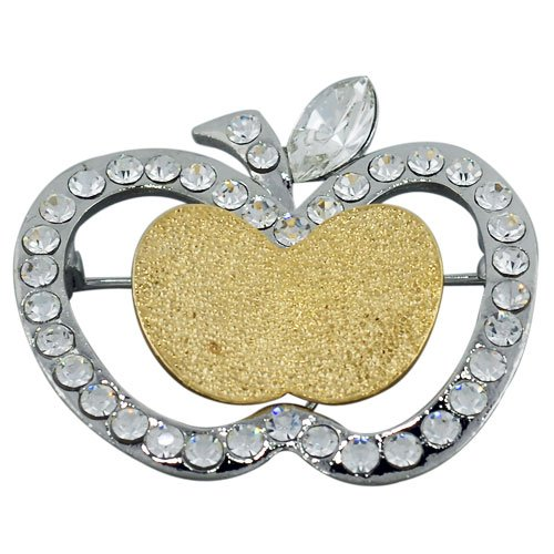 Pugster Studded Apple Brooches And Pins
