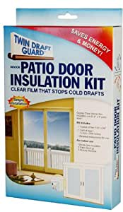 draft guard patio door insulation kit energy saver