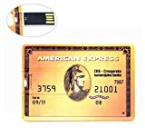 64GB Ultra Slim USB Memory Stick American Express Golden Credit Card Style USB Jump Drive
