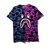 Christo Boy's Casual Fashion Crewneck T Shirt Camo Tees Unisex Pullover Tops(Purple L)