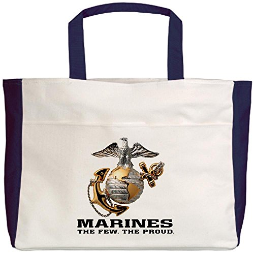 Royal Lion Beach Tote (2-Sided) Marines The Few The Proud - Navy