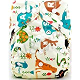 N&M All-In-One Bottom-bumpers Cloth Diaper (Multi Animal)