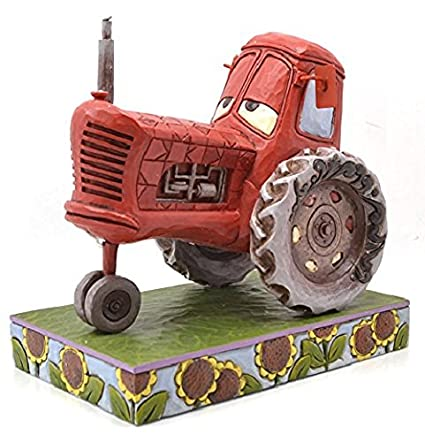 DISNEY TRADITIONS PIXAR CARS Tractor Moooooo! Wood carving tone regin