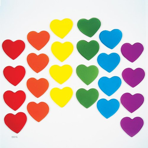 GelGems Rainbow Hearts Large Bag Gel Clings - 1