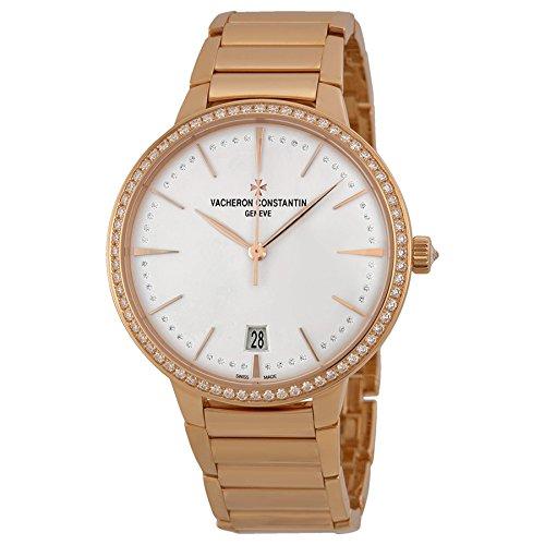 Vacheron Constantin Patrimony Contemporaine Silver Dial 18kt Rose Gold Ladies Watch 85515CA1R-9840