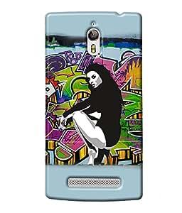 Fuson Dance Girl Back Case Cover for OPPO FIND 7 - D3670