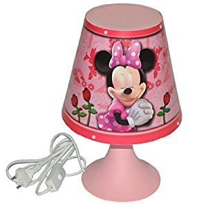 tischlampe disney minnie mouse 30 cm hoch magische lampe stehlampe tischleuchte kinder. Black Bedroom Furniture Sets. Home Design Ideas