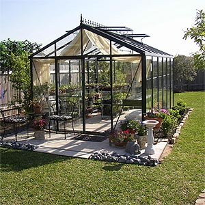 "Amazon.com : Victorian Glass Greenhouse 10'2"" wide x 15' long : Patio"