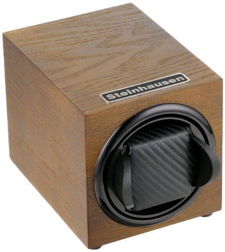 Steinhausen TM1031MGRL Backstein 12-Mode Single Olive Wood Grain Watch Winder