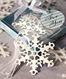 Snowflake Bookmark Favors. Great wedding favours, birthday gifts,baby shower presents, christmas stocking fillers and more...