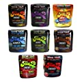 TeaZa Energy Smokeless Tobacco Alternative (Flavor Variety 4 Pack - Flip Tops) Quit Chewing and Dipping Tobacco Snuff - Nicotine Free Herbal Energy Dip - Tobacco Free Chew - Try Different Flavors