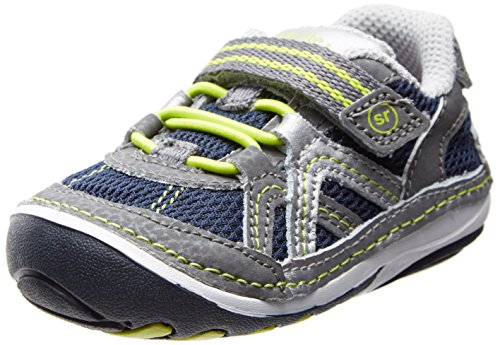 Stride Rite Srt Sm Damien Sneaker (Infant/Toddler),Navy/Grey,4.5 M Us Toddler