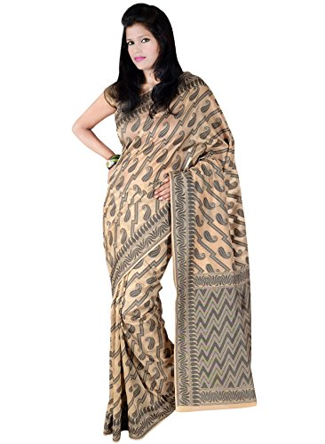 Indusdiva Beige Cotton Saree (beige\/sand\/tan)