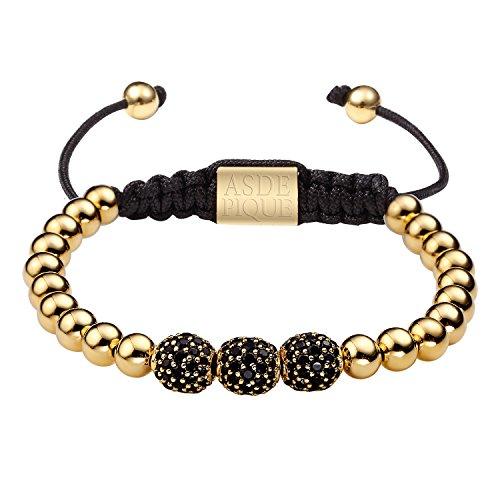 as-de-pique-unisex-shamballa-armband-mit-schmuckbox-metallperlen-three-ball-6-8-mm-gold