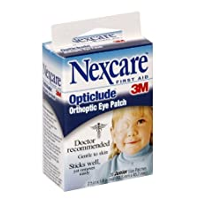 Nexcare First Aid Orthoptic Eye Patch, Opticlude, Oval, Junior Size, 20 ct.