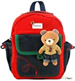 Kid Toddler Walking Safety Harness with Cute Teddy Bear/Bunny Backpack - Sold and Ship From USA (Red Teddy Bear)