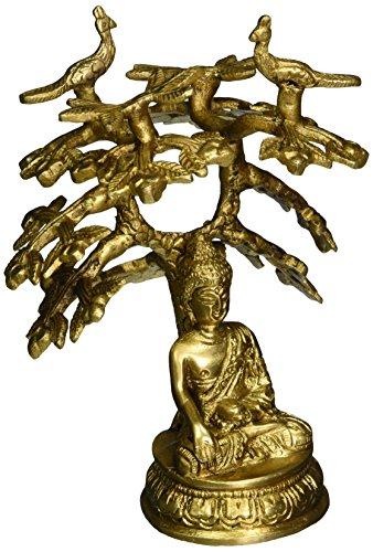 buddhist-art-decor-buddha-statue-meditation-dhyan-mudra-under-bodhi-tree-brass-14-cm