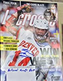 Wesley Berg Signed Lacrosse Magazine with 2015 National Champs Inscription