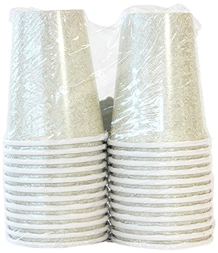 Lillian Tablesettings 24-Piece Twin Stack Paper Cups Set, 9-Ounce, Cream Texture