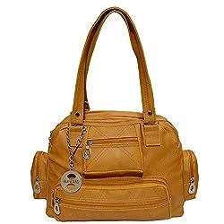 Frenchxd Pamela Foster Fancy Stylish Handbag for Women (Yellow)