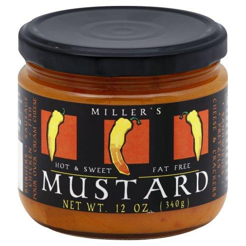 Millers - Mustard Hot & Sweet 12 OZ (Pack Of