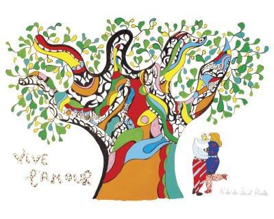 Stampa artistica 'Viva l'amore', per Niki De Saint Phalle, Dimensione: 30 x 24 cm