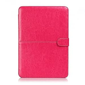 Termichy Slim Fit Laptop Bag for Macbook Pro 13.3 Inch, Light Weight Pu Leather with Cable Access (Hot Pink) by Termichy [並行輸入品]