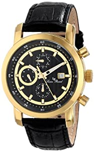 Lucien Piccard Men's LP-12584-YG-01 Toules Analog Display Japanese Quartz Black Watch from Lucien Piccard