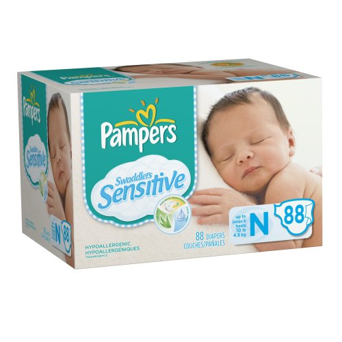 Pampers Swaddlers Sensitive Diapers, Super Pack, Size ...