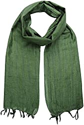 Sahiba Creation trendy and colourful women stole for all time wear(dark green)