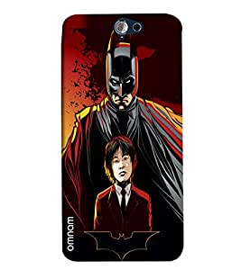 Omnam Batman With Student Printed Designer Back Cover Case For HTC One A9