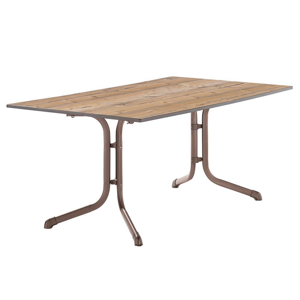 Sieger 1180-75 Boulevard-Tisch mit Puroplan-Platte 165 x 95 cm, Stahlrohrgestell marone, Tischplatte Holzstruktur Fichte bestellen