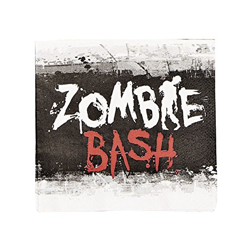 Zombie Bash Beverage Napkins - 16ct