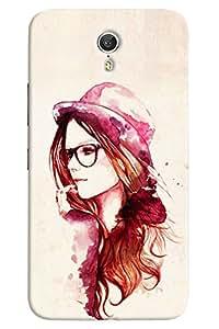 Omnam Girl Painted With Cap And Googles Deigner Back Cover Case for Lenovo Zuk Z1