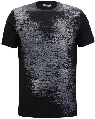 Versace Collection Men's Logo Print Stretch T-Shirt Black (XL)