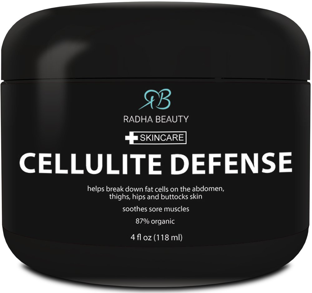 Cellulite Cream 4 oz - Best Anti-Cellulite gel-cream, slimming and body firming gel with Thermogenic Action - also great for Muscle Relaxation and Massage - contains all natural Ingredients