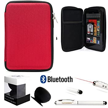 Travel Hard Nylon Lightweight Case For Samsung Galaxy Tab 4 (7-Inch) Tablet + Black Bluetooth Suction Speaker + Stylus Pen Coupon 2015