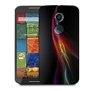 Snoogg Black Background Design Designer Protective Phone Back Case Cover For Moto X 2nd Generation