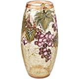 5th Avenue Collection Murano Glass Vase - Grape Décor