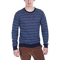 Zobello Men's Sweatshirt (21013A_Navy Blue Heather_Large)