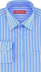 HASTINGS Men's Formal Shirt (V78_38, Blue, 38)