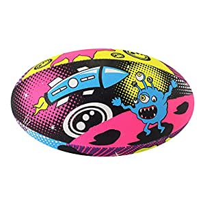 Optimum Space Monster Rugby Ball - Multicoloured, Size 3