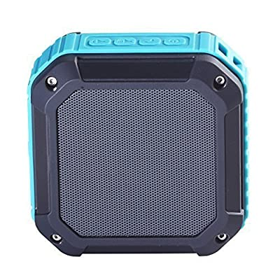 Soundmy Portable Wireless Bluetooth Speaker with NFC waterproof dustproof and Shockproof for Indoor&Outdoor 3W Hi-def Bass with Rechargeable Longer Battery Time (Light Blue)