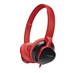 Creative Hitz MA2300 Premium Headset for Music and Calls (Red)
