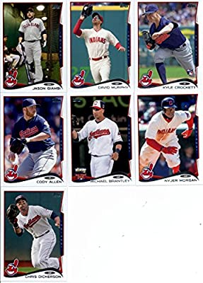 2014 Topps Update Baseball Card Team Set - Cleveland Indians : Including Chris Dickerson , Cody Allen , David Murphy , Jason Giambi , Josh Tomlin , Kyle Crockett , Michael Brantley , Nyjer Morgan , , , ,