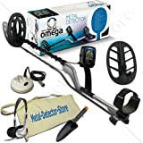 "Teknetics Omega Metal Detector W/additional 11"" DD and 5"" Coils, Headphones, Finds Pouch, Treasure Trowel"