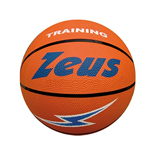 Zeus Pallone da Basket Gomma Arancio Sport Pegashop (5)