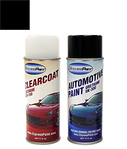Aerosol All Inclusive Package , 416 (2006-2011) Carbon Black Metallic Clearcoat : ExpressPaint Aerosol BMW 5 Automotive Touch-up Paint - Carbon Black Metallic Clearcoat 416 - All Inclusive Package